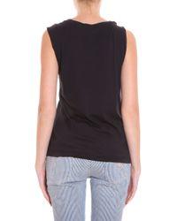 LNA - Black Cross Front T-shirt - Lyst