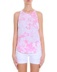 LNA - Pink Bib Tie Dye Tank - Lyst
