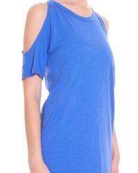 LNA - Blue Ella Open Shoulder Dress - Lyst