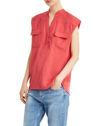 Paul & Joe - Red Facette Blouse - Lyst