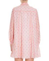 Paul & Joe - Pink Cotton Voile Dress - Lyst