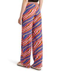 Missoni - Red Stripe Silk Trousers - Lyst