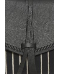 Isabel Marant - Black Harlin Stripe Clutch - Lyst
