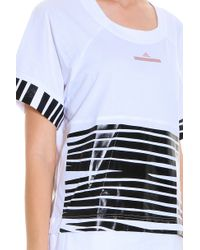 Adidas By Stella McCartney - Black Zebra T-shirt - Lyst