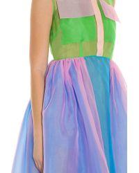 Delpozo - Multicolor Organza Pocket Dress - Lyst