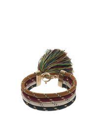 Isabel Marant - Multicolor Fringe Rope Bracelet - Lyst