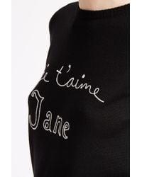 Bella Freud - Black Je T'aime Jane Merino Jumper - Lyst