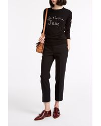 Bella Freud - Black Je T'aime Jane Merino Jumper - Lyst