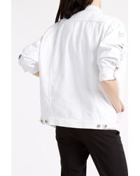 R13 - White Oversized Trucker Jacket - Lyst