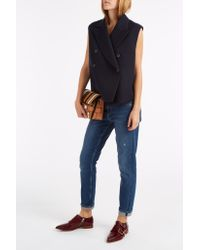 Helmut Lang - Blue Double Breasted Waistcoat - Lyst