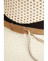 Sensi Studio - White Calado Panama Hat - Lyst