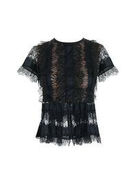 Elie Saab - Black Lace Blouse - Lyst