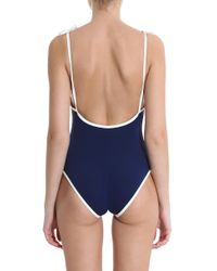 Solid & Striped - Blue Poppy Swimsuit - Lyst
