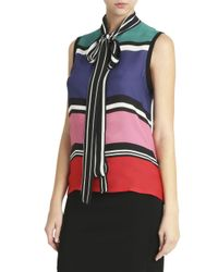 Elie Saab - Multicolor Striped Top - Lyst