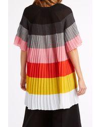 Marco De Vincenzo - Orange Knife Pleat Rainbow Dress - Lyst
