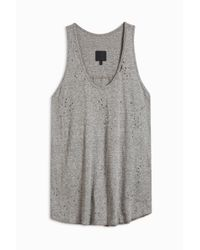 RTA - Gray Allison Destroy Tank Top - Lyst