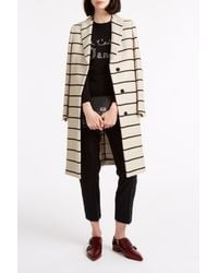 MSGM - Natural Stripe Coat - Lyst