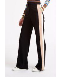 MSGM - Black Side Stripe Trousers - Lyst