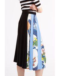 MSGM - Black Pleated Midi Skirt - Lyst