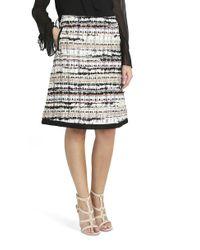 Oscar de la Renta - Natural Tweed Skirt - Lyst