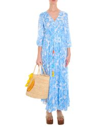 Athena Procopiou - Blue Tassel Maxi Dress - Lyst