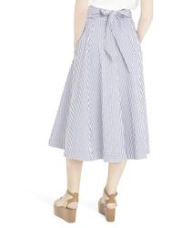 Lisa Marie Fernandez - Multicolor Check Skirt - Lyst