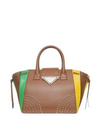 Sara Battaglia - Multicolor Giovanna Leather Bag - Lyst