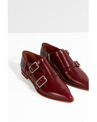 Acne Studios - Red Masca Flat Pointed Loafers for Men - Lyst
