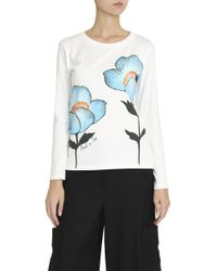 Paul & Joe - White Floral T-shirt - Lyst