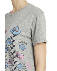Paul & Joe - Gray Floral T-shirt - Lyst