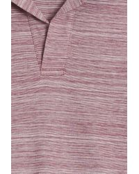 Orlebar Brown - Red Felix Striped Polo for Men - Lyst