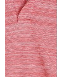 Orlebar Brown - Pink Felix Striped Polo for Men - Lyst