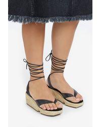 Rachel Comey - Black Getz Wedge Sandals - Lyst