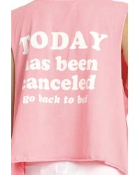 Wildfox - Blue Today Has Been Cancelled Tank - Lyst
