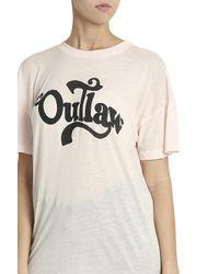Wildfox - Black Outlaw T-shirt - Lyst