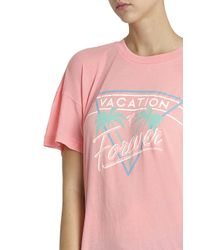 Wildfox - Pink Vacation Forever T-shirt - Lyst