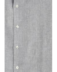 Frescobol Carioca - Gray Regular Linen Shirt - Lyst