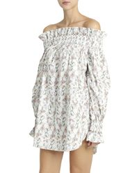 Athena Procopiou - White Off-shoulder Dress - Lyst