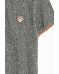KENZO - Gray Orange Tip Tiger Polo Shirt for Men - Lyst