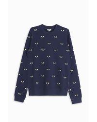 KENZO - Blue Mini Eye Sweater - Lyst
