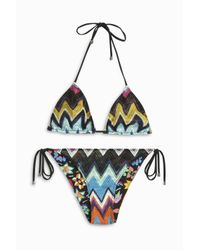 Missoni | Multicolor Zigzag Lame Classic Bikini | Lyst