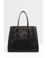 Alaïa | Black Perforated Leather Bag | Lyst