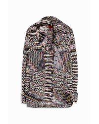 Missoni - Black Melange Cardigan Jacket - Lyst
