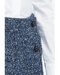 Paul & Joe - Blue Mashup Tweed Wrap Skirt - Lyst