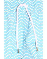 Frescobol Carioca - Blue Ondas Printed Swim Shorts for Men - Lyst