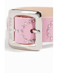 Paul & Joe - Pink Stud-embellished Leather Bracelet - Lyst