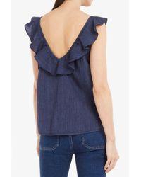M.i.h Jeans - Blue Veeba Ruffled Top - Lyst