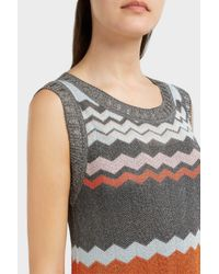 Missoni - Multicolor Lurex Zig-zag Knit Midi Dress - Lyst