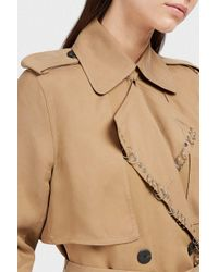 Alexander Wang - Natural Embellished Satin-twill Trench Coat - Lyst