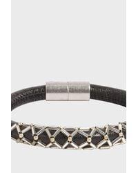 Isabel Marant - Black Forever Leather Bracelet - Lyst